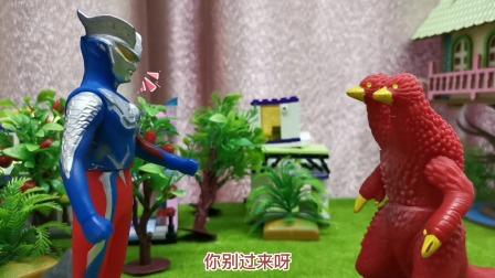 玩具故事:公主碰了一下奥特曼变身器,就变成了奥特曼