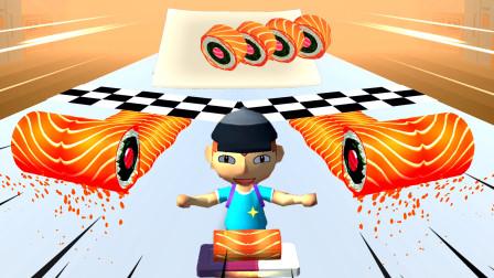 美味寿司店:小哥哥喜欢吃辣味的寿司,口味与众不同!