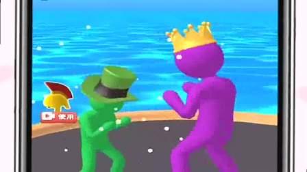 趣味小游戏:小人开始了拳击,两人势均力敌呀