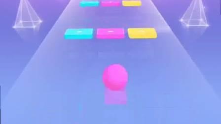 趣味小游戏:粉红色的小球拼命向前,真是超级勇敢