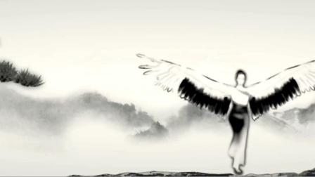 墨舞墨鱼游竹子舞蹈(3m28s)大屏背景视频墙-全十古云210718