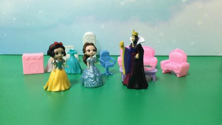 贝尔欺负白雪,王后站白雪这边!