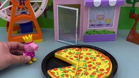 趣味童年:佩奇要请小朋友们吃披萨
