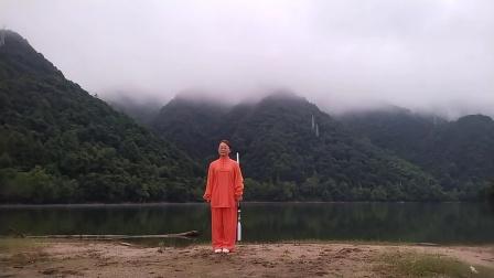 黄山太平湖42式太极剑习练片段