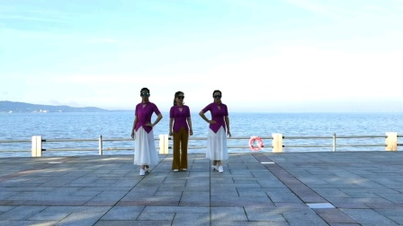 威海公园舞银色水舞第五套