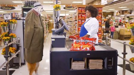狗子:我为了吃块薯片,我容易吗我!