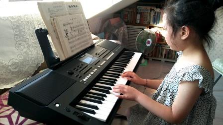 张文婷同学电子琴弹奏《汤普森小乐曲》