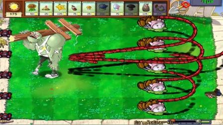 植物僵尸:猫尾草植物的炮弹前后发射