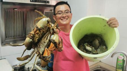 渔夫驱车200公里找新地方赶海,螃蟹直接抓爆桶,看着真过瘾