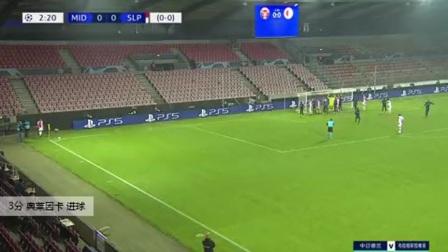 奥莱因卡 欧冠 2020/2021 中日德兰 VS 布拉格斯拉维亚 精彩集锦
