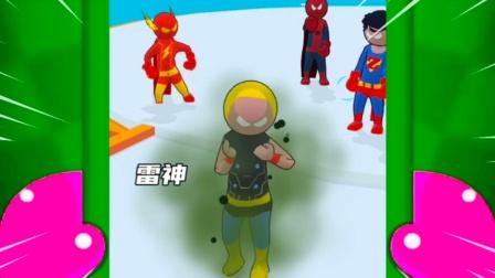 超级英雄换装:雷神被欺负了,我要帮助他