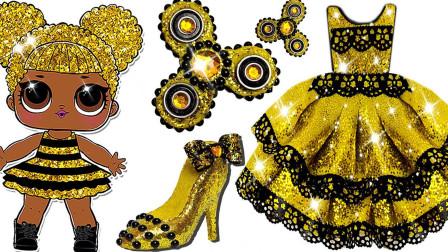 儿童益智彩泥玩具:给惊喜娃娃做闪亮的公主裙和高跟鞋