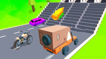 3款汽车闯关合集,借助直升飞机的力量,小汽车也能飞了!