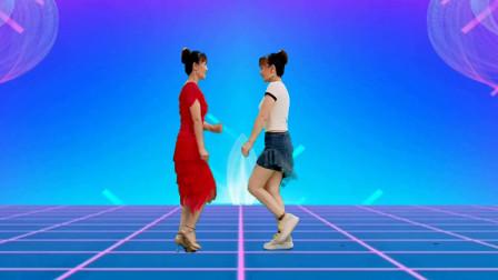 双人对跳广场舞《燃烧的爱火》歌曲好听,舞步简单有趣,附教学