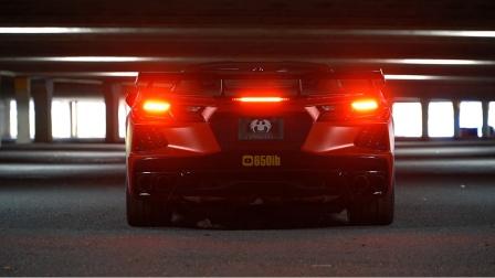 来吧 感受一下6.2 V8中置引擎的销魂声浪!