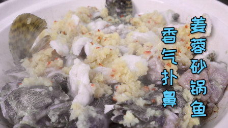 客人点名要求做的姜蓉砂锅鱼,开盖瞬间香气扑鼻,快动手学起吧