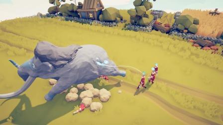 全面战争模拟器:幽灵火焰兵能够将敌人击飞,能否击飞长毛象?