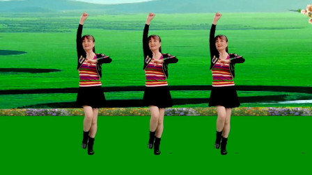广场舞《纵马红尘》32步,歌曲真好听,舞步简单好看好学,附教学