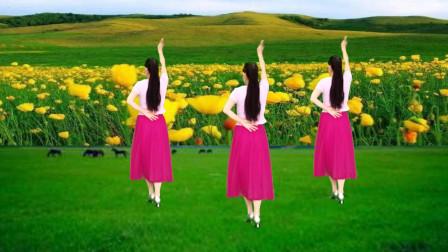 草原风广场舞《我爱的姑娘在草原 》歌声悠扬,优美大气