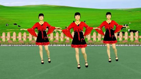 草原情歌广场舞《恋采依》歌声优美动听,简单又好看
