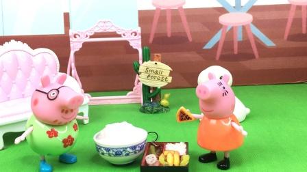 少儿亲子玩具:猪爸爸回家做了什么呀?
