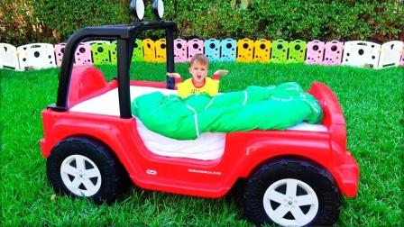 弟弟在汽车床上睡懒觉,哥哥使用魔法将他变成玩具,怎样恢复过来