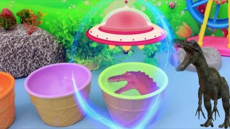 太空飞船给恐龙蛋注射能量