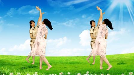 双人舞,母女一起跳,开心又快乐《心跳》背面