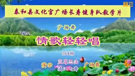 泰和县长寿健身队教学用情歌轻轻唱
