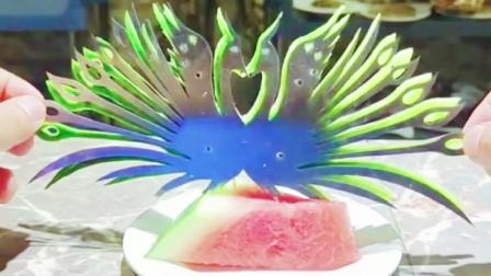 创意水果拼盘,不会雕刻怎么办,我告诉你,让你瞬间变大厨_