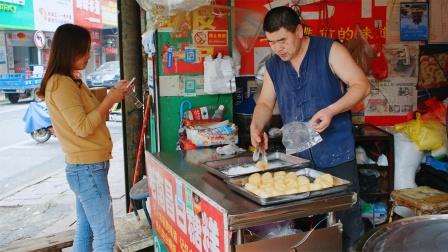 南昌街头小吃白糖糕,1元1个软糯又香甜