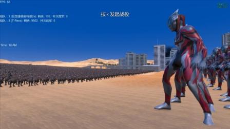 奥特曼战争:100个巨型捷德奥特曼,大战1万头霸王龙