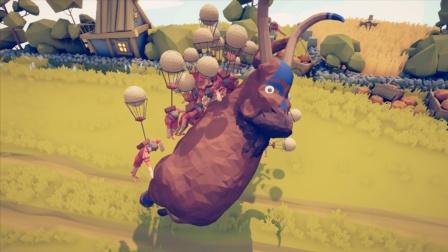 全面战争模拟器:气球兵可以上天,能否带飞长毛象?
