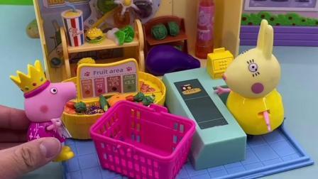 趣味童年:佩奇买了好多的东西啊