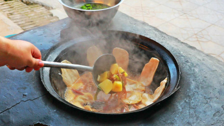 去媳妇家,做一道正宗的地锅鸡,还是土灶烧出来的香啊