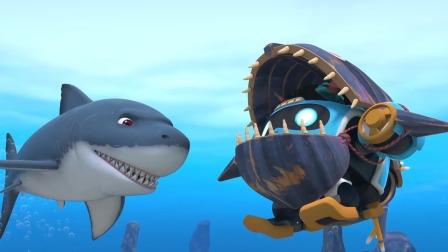 《猪猪侠之南海日记》知识视频01-为什么说大白鲨是好奇宝宝?