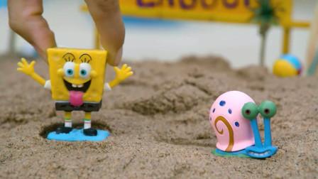 派大星玩具,海绵宝宝气垫船系列第二期,特邀嘉宾海蜗牛小蜗