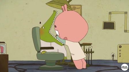 鳄鱼去医院拔牙,兔子的动作差点让它去世【热剧快看】