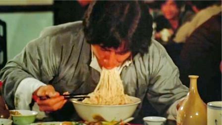 盘点六大蹭吃场面:成龙蹭吃蹭喝,啃烧鹅腿,大口吃面,看饿了