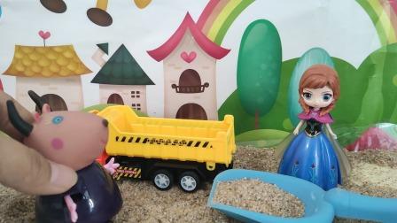 安娜帮羚羊夫人装沙