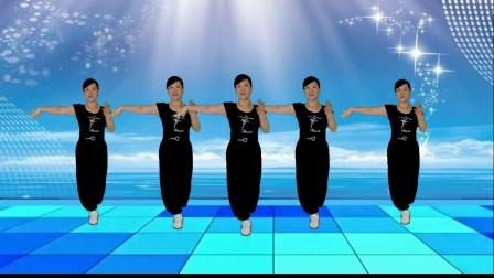 郴州冬菊广场舞【伤心的酒吧】时尚现代入门恰恰风格舞附背面分解