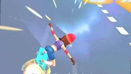 趣味小游戏:滑板 女孩开始加速了,真是风驰电掣