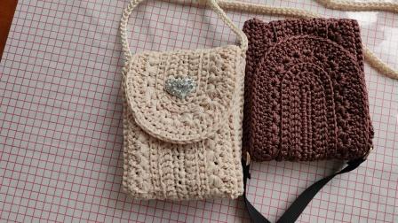 小雏菊斜挎包的钩织教程第四集,喜欢的姐妹收藏备用