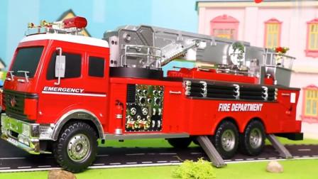 趣味益智玩具, 展示工程车消防车模拟灭火。