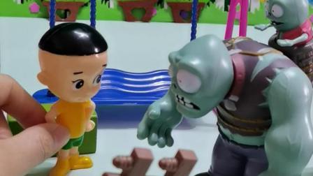 趣味童年:僵尸爸爸你快看,这个头大的小孩是谁
