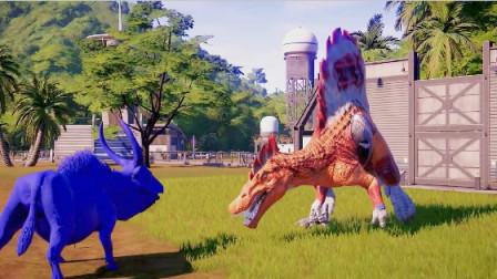 侏罗纪世界:山羊龙又一次创下佳绩,完胜棘背龙