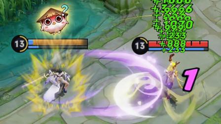 王者皮一下赛事篇:露娜一顿操作猛如虎,笑死,把对面血打满了!