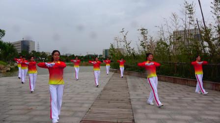 晨曦悠扬健身操第十六套第五节体转运动