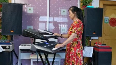 《红太阳照边疆》双电子琴演奏2021.7.29.🌹🌹🌹🌹🌹