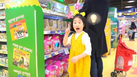 宝蓝偷偷溜进商场和爸爸玩捉迷藏,爸爸傻傻找了好久,太搞笑了!